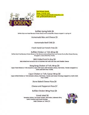 Great Foodini March 22