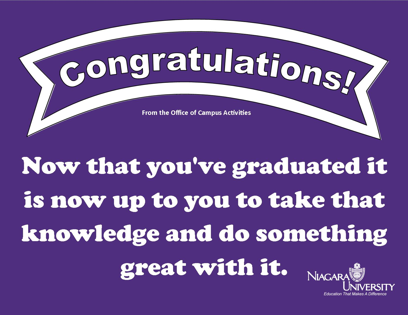 Send Graduation Messages For Llgc Signage Daily Post
